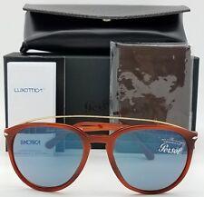 NEW PERSOL sunglasses PO3159S 904656 55mm Tortoise Blue 3159 Big Round AUTHENTIC