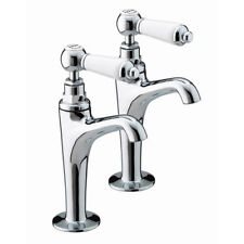 BRISTAN RENAISSANCE HIGH NECK KITCHEN SINK PILLAR TAPS CHROME  RS HNK C