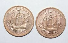 1960 and 1964, 1/2 Penny Great Britain a Lot of 2 Value Coins