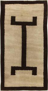Vintage Tribal Handmade Moroccan Natural Undyed Wool Rug BB4829