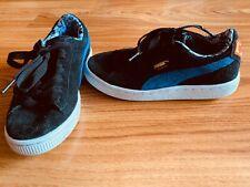 Boys Shoes - Puma Superman Black Suede shoes Sneakers (UK 1)