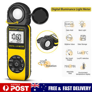 Digital Lux Light Meter Illuminance Photometer LCD Luxmeter Tester 0.1~400000Lux