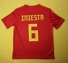 5+/5 Iniesta Spain kids 9-10 years jersey 2018 home shirt BR2713 Adidas ig93
