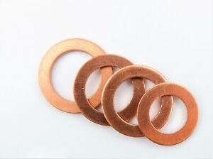 Metric Copper Sealing Washers - Sizes M5 to M24 DIN 7603A