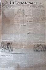 WW1  LA PETITE GIRONDE 1915 SOLDATS PRISONNIERS GUERITE DE POILUS LETTRE KIPLING