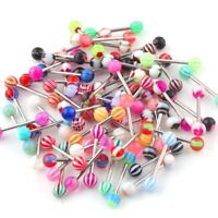 "Wholesale Lot Tongue Body Jewelry 14g 5/8""-NO DUPLICATE!!!"