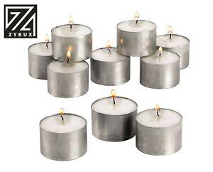 Tea Lights 7 Hour Long Burn Night Light Candles Unscented Tealights 10/ 50 /100