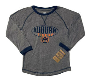 NEW NCAA Auburn Tigers Boy's Youth Gray Long Sleeve AU Logo Shirt Size S (6/7)