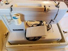 Vintage Necchi 537FA Heavy Duty 11-Stitch Sewing Machine Case Works