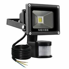 MEIKEE 10W Motion Sensor Light Super bright LED Flood Lights High Output 60W
