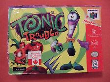 New Nintendo 64 N64 Tonic Trouble Complete CIB (Shelf Wear) Canada Box Version