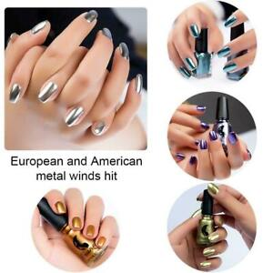 Metallic Nail Polish Mirror Effect Chrome Nail Polish Art Varnish Hot O5Y1