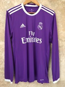 Real Madrid 2016-2017 Climacool away long sleeves jersey size M