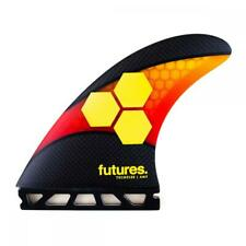 AM2 Techflex 5 Fin Surfboard Fins In Orange/Red From Futures Fins