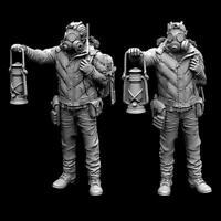 55mm Lantern Pathfinder Resin Figure Kits Lantern Pathfinder Resin Soldier