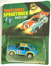 1977 Matchbox Speedtrack Race Slot Car LIT LIGHTED FIAT 131 #14-37-52 Carded