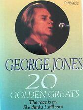 George Jones - 20 Golden Greats - Cassette Tape (C158)