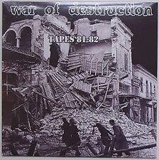 War Of Destruction - Tapes 81-82 LP Razor Blades The Crap Brats Denmark Punk