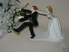 Wedding Party Reception ~Running Groom~ Cake Topper Funny Groom's Cake