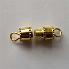15mm x 5mm Gold Tone Screw In Barrel Clasps (10)
