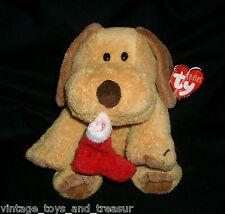 TY PLUFFIES GOODIES STOCKING CHRISTMAS PUPPY DOG STUFFED ANIMAL PLUSH TOY 2004
