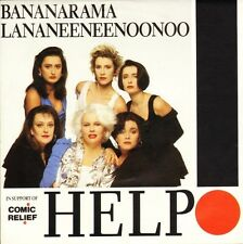 "BANANARAMA/Lananeeneenoonoo Help Lon 222 UK Londres 7"" PS EX/EX COMIC RELIEF"