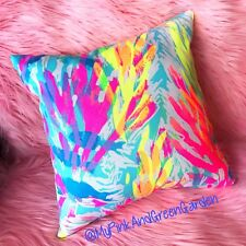 Sale New throw pillow made with LILLY PULITZER Sparkling Sands fabric