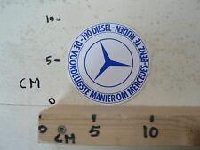 STICKER,DECAL MERCEDES-BENZ 190 DIESEL DE VOORDELIGSTE MANIER OM MB TE RIJDEN CA