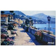 "Howard Behrens ""Bellagio Promenade"" Signed Limited Edition Giclee on Canvas"