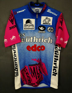 RARE MEN'S SHIRT SANTINI ITALY CYCLING BICYCLE BIKE JERSEY MAILLOT MAGLIA SIZE M