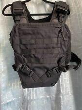 Mission Critical Tactical Front Baby Carrier Infant Toddler Black Military Vest