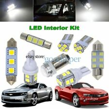 4x White LED Dome + Cargo lights interior package kit fit 2010-2017 Chevy Camaro