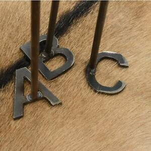 Alphabet Steel Branding Irons Wood Steak Brand BBQ Western Letters A-Z Available