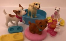 Barbie Pets Lot Dogs Cat Hamster Bed Pillows Food Dish
