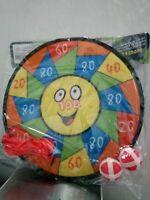 Diana de velcro juguete para niños Ø 28 cm con pelotas y dardos con velcro