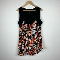 Tasking Shape TS Womens Dress Plus Size XS AU 14 Floral Multicoloured Sleeveless