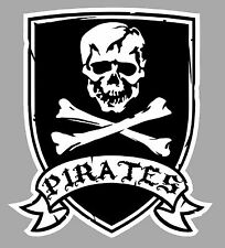 TETE DE MORT PIRATES SKULL RAT'S 9cmX8cm AUTOCOLLANT STICKER MOTO BIKER PC040