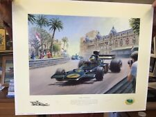 New listing Lotus Victorious Ronnie Peterson Monaco 1974 53/375 Limited Signed Print