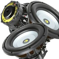 Pair of Gravity 10 Inch 2000 Watt Car Audio Subwoofer w/ 4 Ohm Power (2 Woofers)