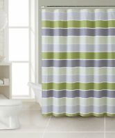 Blue Magic Fabric Shower Curtain Liner:City Names and Landmarks appears when wet