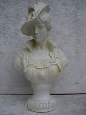 Büste Frauenbüste Helena Hut Kopf Figur Frau Stuckgips Säule Statue Crem 2026