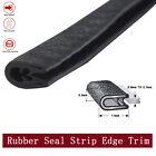 Black U-Channel Rubber Seal Strip Door Edge Guards Trim Moulding Car Trunk 11ft  for sale