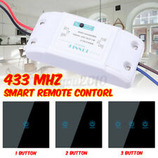 Wireless Remote Control Light Switch + Touch Glass Transmitter 86 Wall Panel