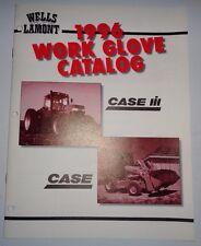 Case / Case IH Tractor Dealers Wells Lamont Work Glove Sales Brochure Catalog