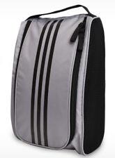 NEW Adidas Golf Shoe Bag Sports shoe case Tote Bag Golf Travel Zipper GREY Color