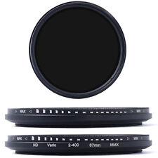 67mm Slim Fader Variable ND Filter Neutral Density Adjustable ND2 to ND400 LF26