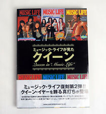 "Queen in ""Music Life"" Japan Magazine Photo Book Freddie Mercury"