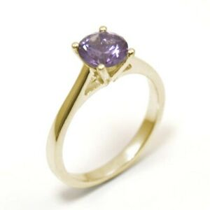 9ct Gold Ring Solitaire 1ct Alexandrite Engagement Ring