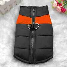Waterproof Small/ Large Pet Dog Clothes Winter Warm Padded Coat Pet Vest Jacket