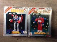 Lot 2 figurines Vintage GUNDAM / GUNCANNON Die Cast Popy Bandai